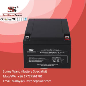12V 24ah Sealed Deep Cycle Gel Battery for 5kw Solar Power System pictures & photos