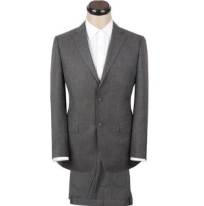 Elegant Smooth Feel Bespoke Gray Coat Pant Men Suit pictures & photos