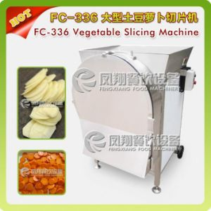 FC-336 Vegetable Fruit Cutting Slicing Shredding Machine with Big Hopper (Potato Carrot Radish Onion Apple Eddo Melons etc) pictures & photos