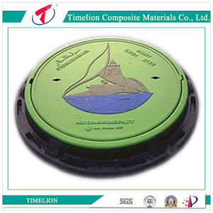 High Duty Reinforced Plastic FRP Manhole Cover SGS D400 pictures & photos