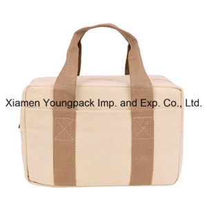Promotional Custom Natural Cotton Canvas Insulated Lunch Tote Bag pictures & photos