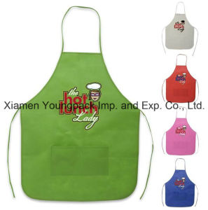 Cheap Promotional Custom Printed Non-Woven Cooking Apron with Pockets pictures & photos