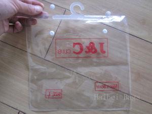 Customized Printed PVC Bag, Plastic Package Bag with Hook, PVC Button Bag, PVC Underwear Bag, PVC Garment Bag, PVC Hanger Bag (hbpv-74) pictures & photos