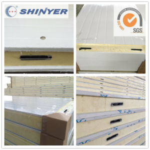 100mm Polyurethane PU Sandwich Panel with 0.8mm Color Steel Plate pictures & photos