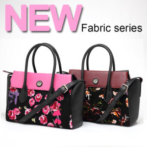 New Arrival Fashion Flower Printing Fabric Lady Handbag (QF-50A-1) pictures & photos