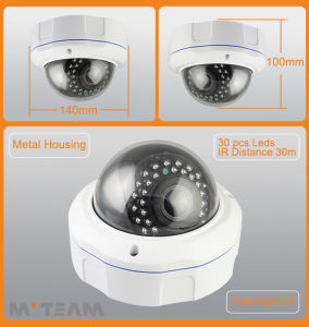 Hot New Sell 1.0 Megapixel 720p Cheap Megapixel Dome CCD Camera FCC, CE, RoHS Certification Mvt-Tan26n pictures & photos