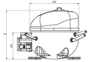 R134A Piston Compressor Qm91h pictures & photos