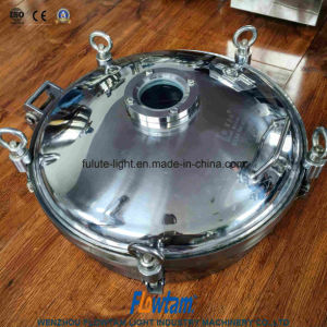 Sanitation Inox Manhole Cover Door Manway with Flange Sight Glass pictures & photos