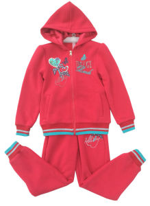 Fleece Kidsgirl Sport Suit for Children ′s Clothing Swg-130 pictures & photos