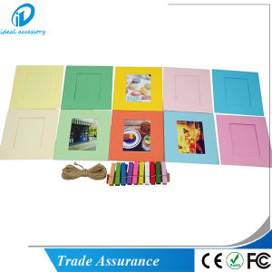 Stock Simple Style FUJI Instax Poloroid Film Pitcure Frame with Clip pictures & photos