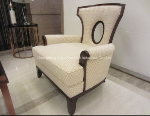 New Design Five Star Hotel Solid Wood Armchair pictures & photos