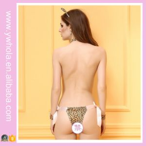 New Design Leopard Printing Three Point Style Lady Sexy Lingerie pictures & photos