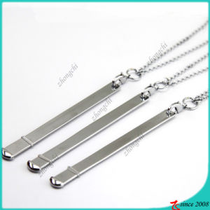 Silver Bar Necklace for Slide Charms Jewelry (BN16041208)
