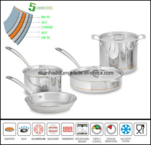 5layer Copper Core Cookware Set pictures & photos