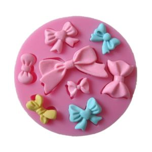 8 Mini Bows Silicone Mould Fondant Cake Mold pictures & photos