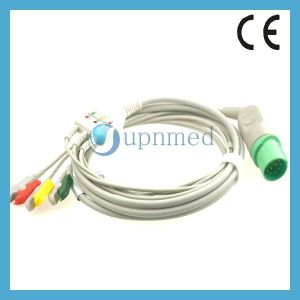 Nihon Kohden Defibrillator TEC-5200A ECG Cable with Lead Wires, 11 Pins pictures & photos