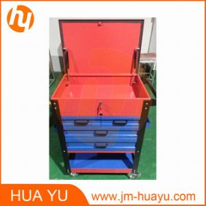 26-Inch Sheet Metal Professional 6 Drawer Rolling Tool Cabinet, Blue / Red Powder Coated Garage Tool Cart pictures & photos