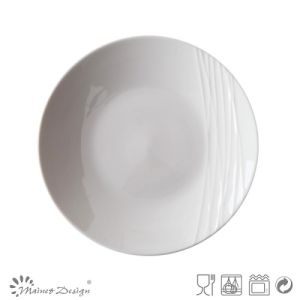 Simply White Porcelain Embossed Salad Plate pictures & photos