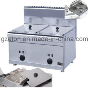 High Quality Gas Fryer Double for Commercial Using pictures & photos