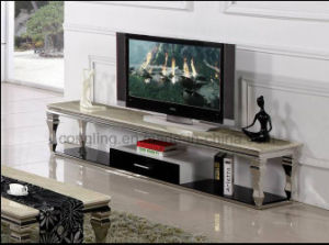 CT8050 Simple Designs High Gloss TV Stand with Drawer