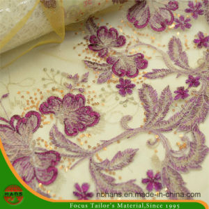 Embroidery Nylon Fabric for Garment (HAEF160004) pictures & photos