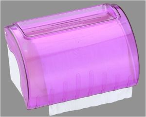 Hotel Publicl Toilet Wholesale Purple Translucent Round Plastic Wall Mounted Tissue Paper Towel Roll Dispenser Holder