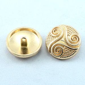 Custom Fashion Metal Golden Alloy Shank Button for High-End Coat pictures & photos
