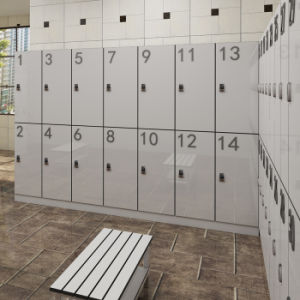 HPL Laminate Sheet Waterproof 3 Door Locker pictures & photos