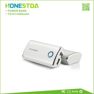 Hot Sales Portable Mobile Power Bank 4400mAh Travel Charger with LED Flashlight pictures & photos