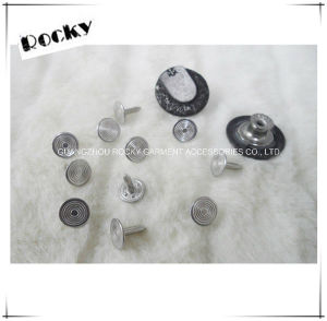Jeans Snap Fasteners Shank Zinc Alloy Rhinestone Copper Buttons