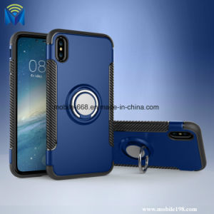 Ring Cover with Magnet Car Holder Stand Case PC+TPU Back Cover for iPhone X pictures & photos