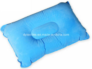 Wholesale Flatable Square Shape Flocking Neck Pillow pictures & photos