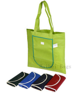 Promotional Folding Shopping Bag, Polyester Foldable Tote Bag (HBFB-63) pictures & photos
