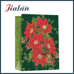 Wholesale Cheap Coated Paper Flowers Printed Christmas Shopping Gift Bags pictures & photos