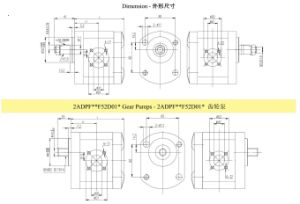 High Pressure Rotary Hydraulic Tandem Gear Pump with Cast Iron Cover pictures & photos