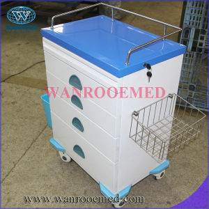 Big Size ABS Ward Nursing Treatment Trolley pictures & photos