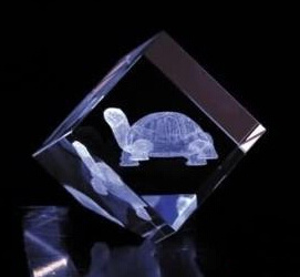 Clear K9 Grade a 3D Laser Inside Crystal Cube Block pictures & photos