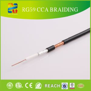 75 Ohm Rg59 Quad Shield Coaxial Cable Rg59 pictures & photos
