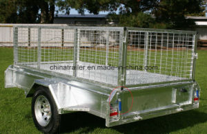 Hot DIP Galvanized Fully Welded 7X5box Trailer with Cage pictures & photos