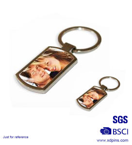Wholesale Metal Photo Frame Key Chains with Printed Paster (KC-031) pictures & photos