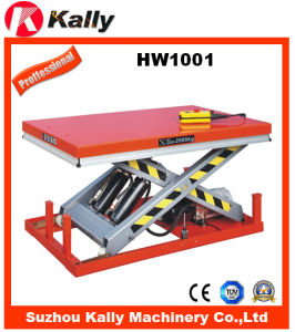 Automatic Lifting Scissor Hydraulic Lift Table (HW1001) pictures & photos