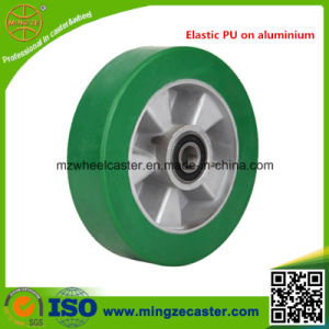 Elastic PU Wheel, Aluminum Core PU Caster Wheel pictures & photos