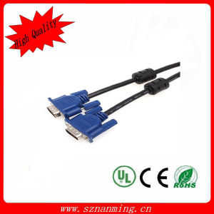 VGA 15-Pin Male to VGA 15-Pin Male Serial Adapter Cable - Black+Blue pictures & photos