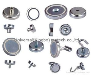 Nickel Coated Neodymium Female Thread Pot Magnet (UNI-Pot-io4) pictures & photos
