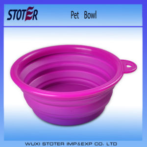 Non-Toxic Colorful Food Grade Silicone Collapsible Salad Bowl pictures & photos