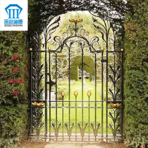 High Quality Crafted Wrought Iron Single Gate 025 pictures & photos