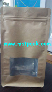 Kraft Paper Box Pouch with Handle / Bottom Bag pictures & photos
