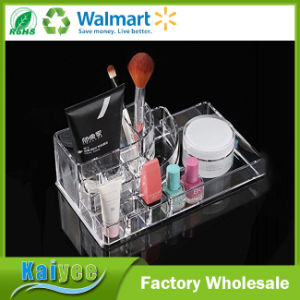 4 Drawers Acrylic Makeup Cosmetics Organizer with Top Section pictures & photos