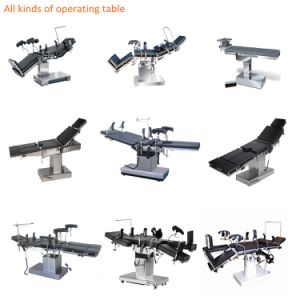 X-ray Available Manual Hospital Head-Controlled Operating Room Table pictures & photos