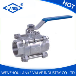 2000wog Ss304/316 Flanged Ball Valve with 3PC